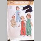 VINTAGE SEWING PATTERN~Toddlers' Jumpsuit~size 1~Simplicity #7240 (1975)