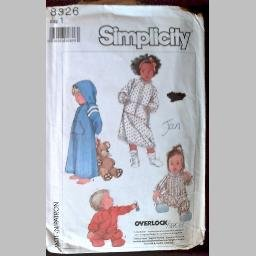 SEWING PATTERN~Toddlers' Robe & Sleeper~size 1~Simplicity #8326 (1987)