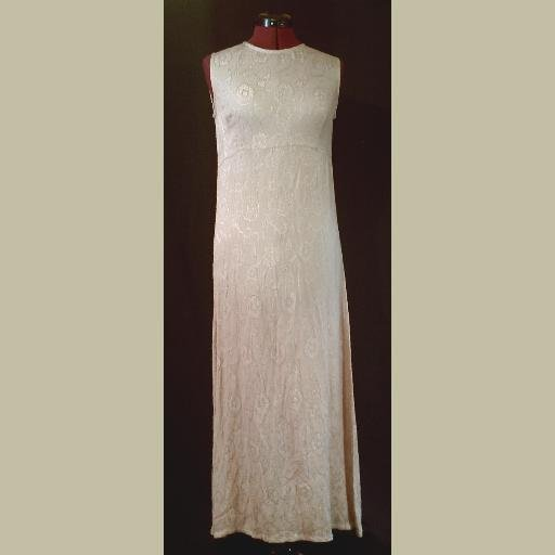 Khaki/Tan~SATIN FLORAL TANK DRESS~Airy~by ECOTE~India~size S