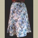 Gorgeous! RETRO CHIC FLARED SKIRT~Blue & Purple Floral/Daisy Pattern~size 4