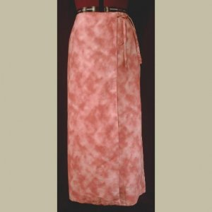 Rose/Pink/Mauve~TIE-DYED WRAP SKIRT~Handmade~Hippie/Boho~size Small/Medium