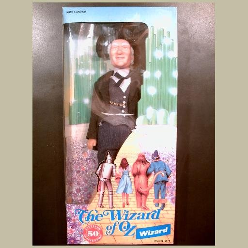 The Wizard of Oz~THE WIZARD Doll~by Multi Toys~MINT & HTF~50th Anniversary