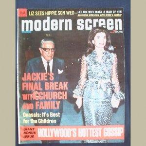 MODERN SCREEN~1971~v65/#1~VINTAGE CELEBRITY MAGAZINE~JACKIE~Doris Day~Liz Taylor~Natalie Wood~Welk++