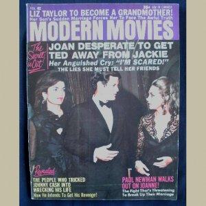 MODERN MOVIES~1971~v4/#2~VINTAGE CELEBRITY MAGAZINE~JACKIE~Newman~Johnny Cash~Redford~Natalie Wood++