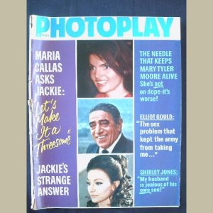 PHOTOPLAY~1971~v79/#3~VINTAGE CELEBRITY MAGAZINE~JACKIE O~MT Moore~Shirley Jones~Elvis~Ted Kennedy++