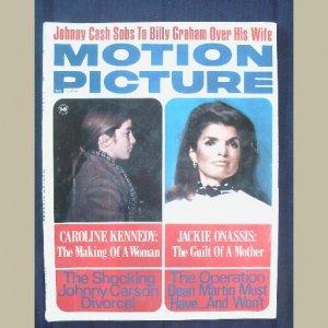 MOTION PICTURE~1971~v60/#722~VINTAGE CELEBRITY MAGAZINE~JACKIE~Cash~Carson~Doris Day~Shirley Temple+