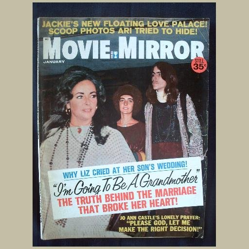 MOVIE MIRROR~1971~v15/#3~VINTAGE CELEBRITY MAGAZINE~LIZ~Jackie~Newman~Patty Duke~Clint Eastwood++