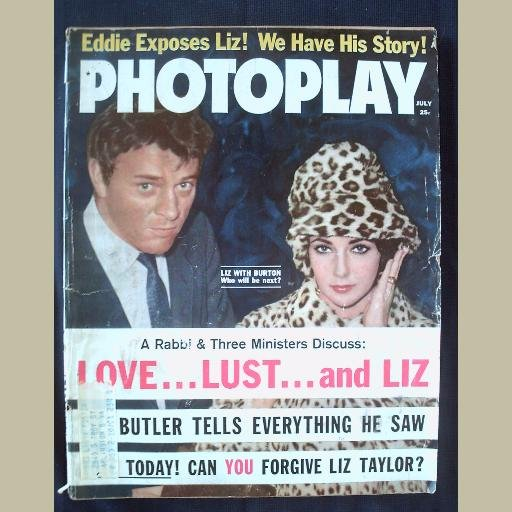 PHOTOPLAY~1962~v62/#1~VINTAGE CELEBRITY MAGAZINE~LIZ TAYLOR~BURTON~Jackie~Rock Hudson~Grace Kelly++
