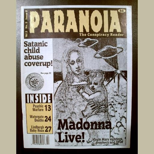 Issue #5~PARANOIA MAGAZINE~CONSPIRACY READER~Lindbergh/UFOs/Madonna/Psychic Warfare/Watergate