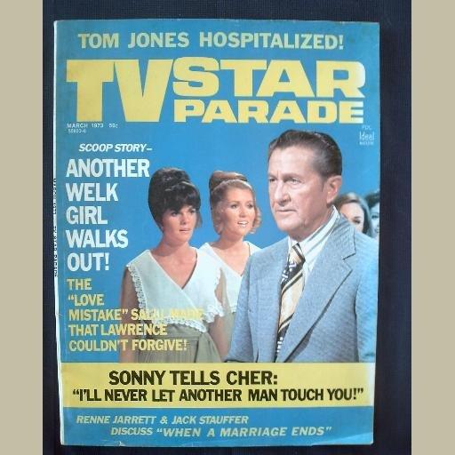 TV STAR PARADE~1973~v23/#6~VINTAGE CELEBRITY MAGAZINE~WELK & SALLI~Sonny~Cher~Tom Jones~Lucie Arnaz