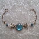 """CYAN BLUE MURANO COILS"" HANDMADE PERUVIAN Bracelet ~Alpaca Silver Jewelry ~Cascajo nuggets"