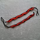 HANDMADE FRIENDSHIP BRACELET ~Black & Red ~Bright Bold Colors ~Zig-Zag Pattern ~Jewelry