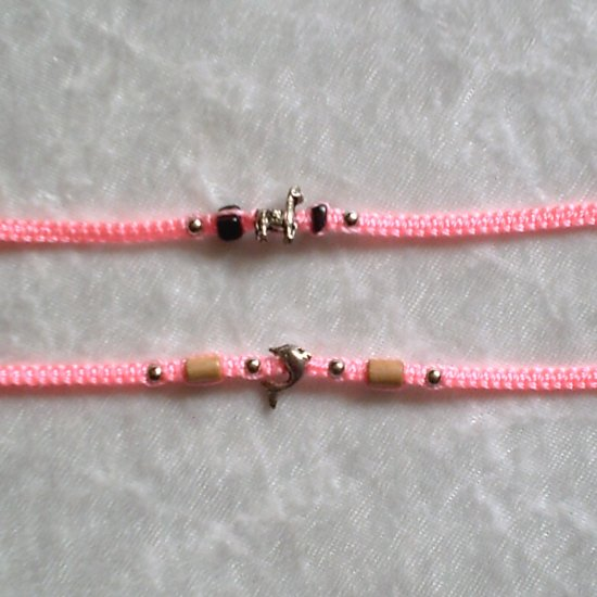 HANDMADE PERUVIAN BEADED FRIENDSHIP BRACELET ~Pink with Alpaca & Cascajo beads ~Jewelry