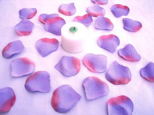 100 Lavender & Pink Silk Rose Petals Weddings Crafts (Large)
