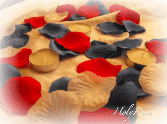 100 Patriotic Mix of  Red, White & Blue Silk Rose Petals Weddings Crafts
