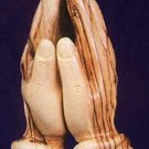 Praying Hands Statue - Hand Carved Olive Wood Medium