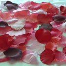 500 Mix of Red, Burgundy and Pink Silk Rose Petals Weddings Crafts