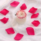 100 Fuscia Silk Rose Petals Weddings Crafts (Large)