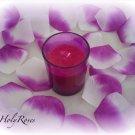 500 White & Deep Fuscia Two Tone Silk Rose Petals Weddings Crafts (Large)