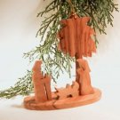 Mini Olive Wood Nativity - for Xmas Tree - Creche 3 - Gift Boxed