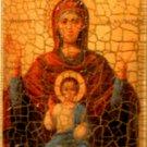 Religious Wood Icon Holy Jesus & Mary - Jerusalem Stone 5427