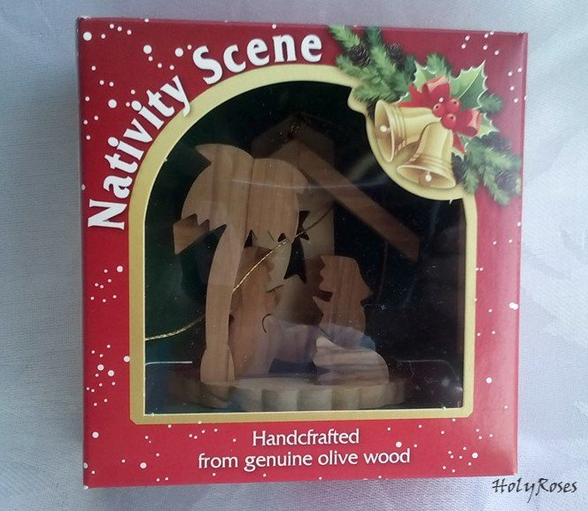 Mini Olive Wood Nativity Scene v1- for Xmas Tree - Gift Boxed