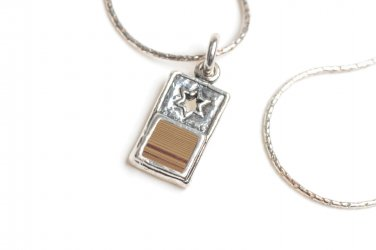 Sterling Silver 925 Delicate Pendant Cut Out Star of David Nano Bible Torah Tanach Chain