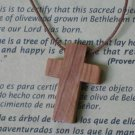 Olive Wood Cross Pendant (Small) Holyland
