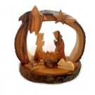 OLIVE WOOD CHRISTMAS NATIVITY CARVED BARK (H)