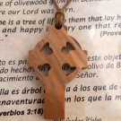10 x Celtic Cross / St. Patrick's Olive Wood Pendants