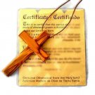 7 cm Large Olive Wood Cross Pendant Necklace Christian Genuine Leather Cord HJW