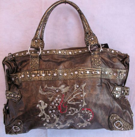 Dragon Handbag Metallic Studs UNIQUE Bag Purse HOT SOLD OUT