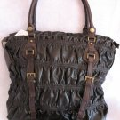 Inspired look Black Body Brown Accents handbag bag