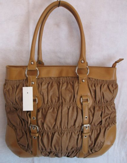 Camel colored inspired wrinkled look handbag bag purse SOLD OUT