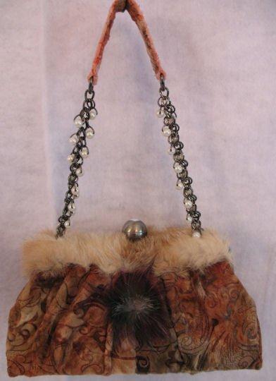 Beautful mid size rabbit fur handbag bag purse SOLD OUT