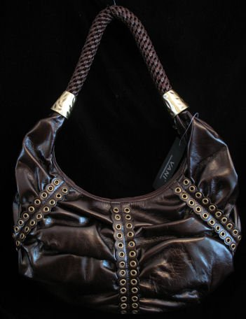 Brown HoBo bag rivet detail Handbag purse Handbags