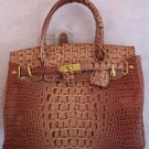 Faux Rose Croc padlock syle inspired handbag bag purse