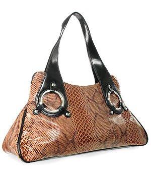 Python Snake Skin Handbag bag purse HOT SHAPE