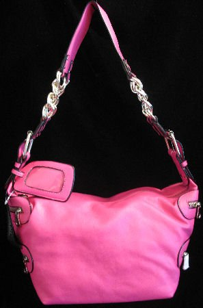 Hot Pink chain Unique Handbag bag purse NWT S