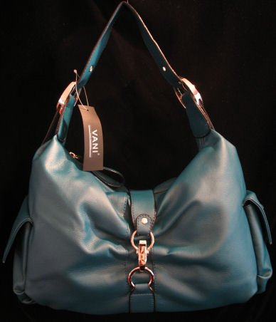 Turquoise Blue slouch hobo handbag bag purse tote