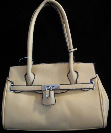 Tan inspired padlock handbag bag purse tote