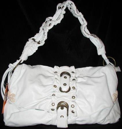 White NWT Faux leather Fashion handbag bag purse