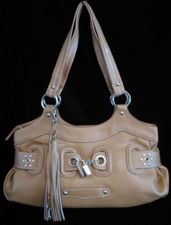 Padlock Fashion bag Tan handbag purse tote