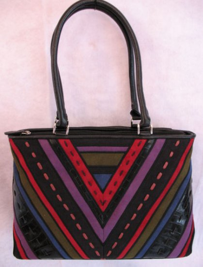 Suede Patchwork design HAndbag bag purse