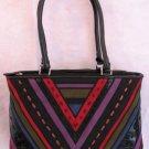Suede Patchwork design HAndbag bag purse