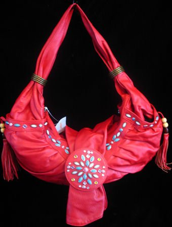 RED rodeo princess handbag bag Beaded purse
