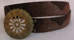 Light Brown Faux Fur Womens belt accessories