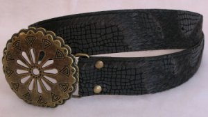 Black Faux Fur Womens Belt Accessories