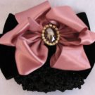 Beautiful Pink Satin and Black Velvet Hair Barrett