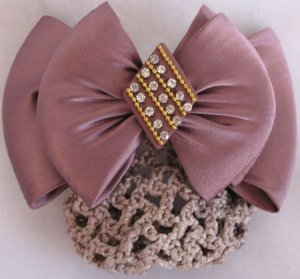Rose barrett with bun Net crystal Womens Hair